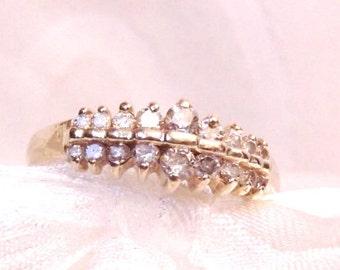 Vintage Diamond 14K Wedding Anniversary Ring