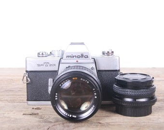 Vintage Minolta SRT 201 Camera / Vintage Slr Camera / Minolta Film Camera / Old 35mm Camera / Student Camera / Antique Camera
