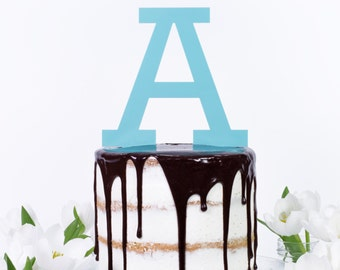 Personalised Large Letter Cake Topper