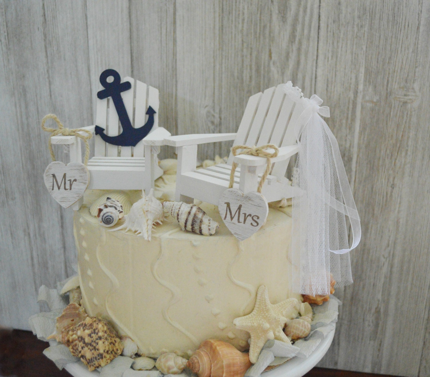 nautical cake toppers for wedding cakes anchor navy nautical wedding cake topper chairs navy 17728