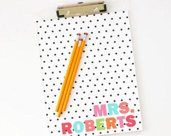 Personalized Teacher Gifts Clipboard Girls Office Supplies Cute School Supplies  Desk Accessories Acrylic Clipboard Lucite Desk