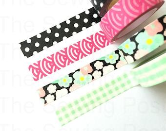 Washi Tape Set: Hot Pink Blossom