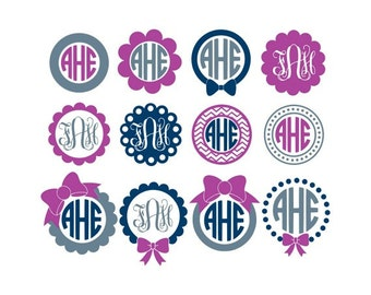 Circle Monogram Frame Svg, Circle Monogram Frames Svg, Circle Monogram Svg, Svg, Circle Frame Svg
