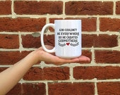 Large Mug, Godmother gift, Godmother coffee mug, 15 oz mugs, baby on the way, baby reveal, baby announcement gift idea, Religious gifts