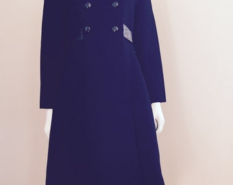 70s Black / Princess Coat / 60s Coat / Kate Middleton Coat
