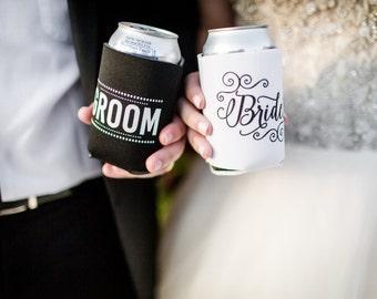 Bride and Groom Can Cooler, Wedding Gift Idea, Bride and Groom Gift, Bride Can Cooler, Groom Can Cooler, Honeymoon Gift, Bridal Shower Gift