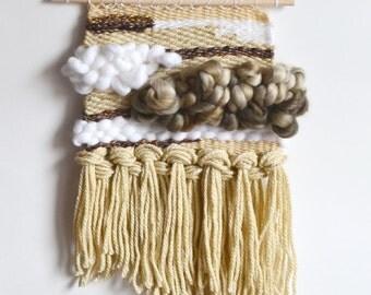 Wall Weaving, Tapestry, Wall Art, Bohemian Home Decor, Earth Tones, Neutral Color Weaving, Beige Weaving, Wall Hanging, Loom, Boho Decor