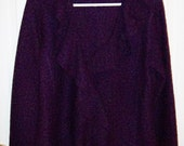 Vintage Ladies Purple Wool Cardigan Sweater by Cynthia Rowley Large Only 10 USD