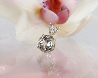 Herkimer Diamond Jewelry, Herkimer diamond Pendant, April Birthstone pendant, Rare Gemstone Pendant, Diamond Alternative Jewelry,
