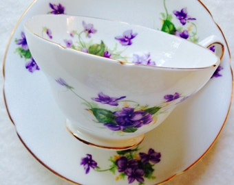 Beautiful Stanley Violet Vintage Teacup