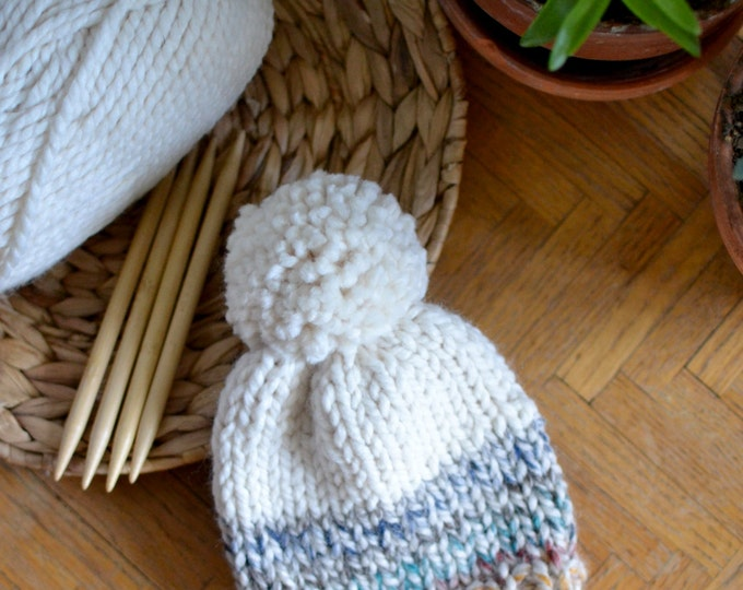 Knitted Kids Beanie // Color Block Baby Hat // Kids Winter Hat // Kids Winter Hat // Winter Baby Hat // Knit Baby Hat // Baby Beanie