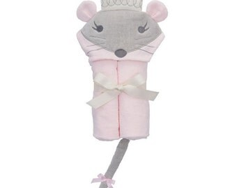 Hooded Towel Personalized Mouse Princess