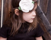 Rose Headband - The Arwen Headband - Crochet Boho Flower Headband - Baby Flower Crown - Toddler Flower Headband