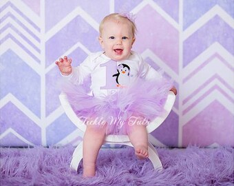 Lilac Penguin Themed Winter ONEderland Winter Themed Birthday Tutu Outfit-Penguin Birthday Tutu Set-Penguin Tutu Set *Bow NOT Included*