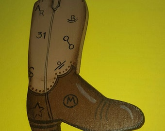Boot, Cowboy, Ornament / Gift Tag / Party Favor -- OMB18