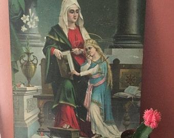 SALE- Vintage Metal Religious Picture