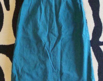 TEAL SUMMER pencil SKIRT 1960's S