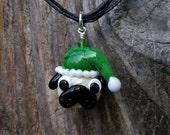 Santa Pug - Glass Christmas Pendant