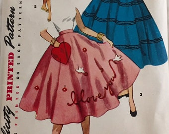 "Vintage 1960s Simplicity Misses' Juniors' Skirt Pattern 4784 Size 25"" Waist"