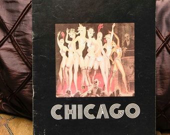 """Broadway Play Vintage Souvenir Program: """"Chicago"""" 