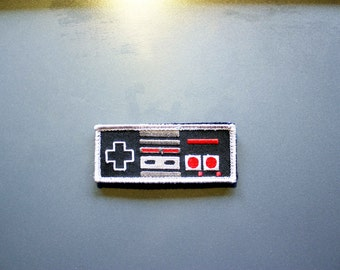 "Conrtoller Patch - 3.5"" x 1.5"" with Hook & Loop backing - retro gaming 8 bit"