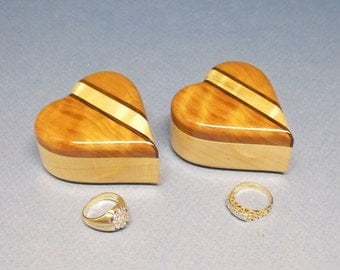 Pair of Ring Heart Boxes