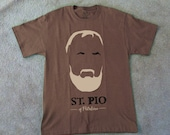 St. Pio of Pietrelcina Padre Pio t shirt Catholic Saint Men's S-3XL made to order
