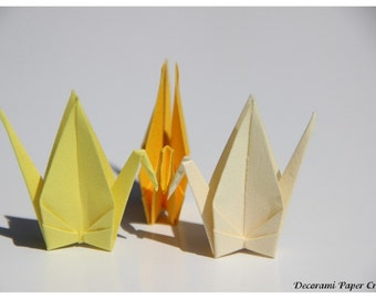 Origami Cranes - 100 units - Vanilla, Yellow or Canary