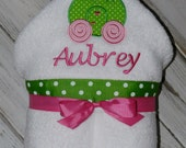 Personalized Cinderella's Carriage Hooded Towel