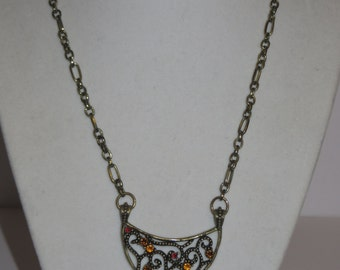 Vintage Antique Gold Pendant Necklace
