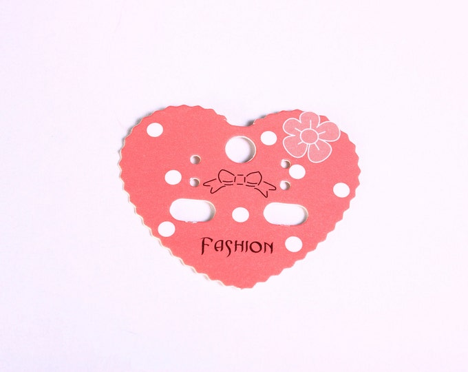 Earring display cards - Fashion display cards - pink and white display cards - heart display cards - 42mm x 50mm (1568) - Flat rate shipping
