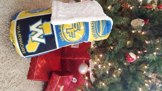 Warriors Christmas Gift Bedding Basketball Throw Adult Minky