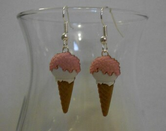 Ice Cream Waffle Cone Earrings