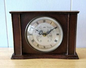 Vintage Clock - Smiths Tempora - Recycled Mantel Shelf Clock - 1960's Clock