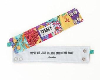 Inspirational Bracelet, Blessing Band™, Secret Message Bracelet, Create Peace Cuff, Inspirational Jewelry, Quote Bracelet, Inspiration Cuff