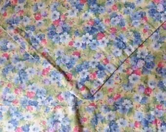 Calico Feed Sack Pillowcase, Handmade Standard Size Pillowcase, Multi Floral Grain Sack Pillowcase