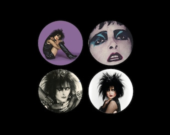 "SIOUXSIE WORSHIP Siouxsie and the Banshees 1.5"" pins"
