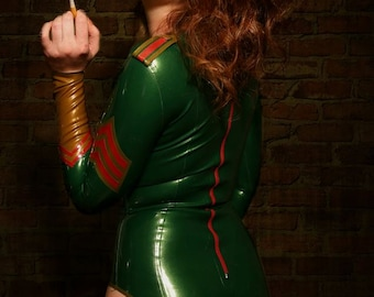 Military Latex Bodysuit