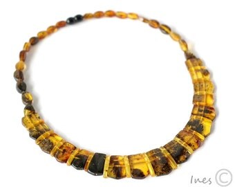 Adult Amber Necklace, Genuine Baltic Amber Adult Necklace