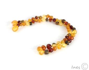 Unpolished Baltic Amber Baby Teething Necklace