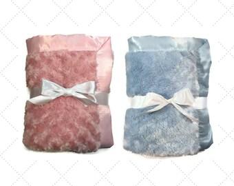 pink minky blanket- blue minky blanket-baby girl- pink blanket- blue blanket- baby boy- baby gift- pack n play - cradle blanket- twin gifts