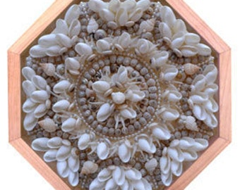 "Nantucket Sailor's Valentine Seashell Mosaic Design ""Special Occasion"""