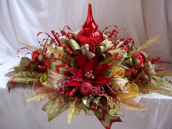 Christmas Centerpiecechristmas Mesh Centerpiecechristmas
