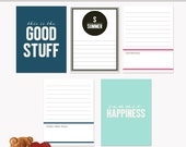 Printable Journaling Cards Summer Set 1 for Scrapbook and Project Life INSTANT DOWNLOAD