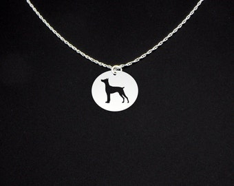 German Pinscher Necklace - Sterling Silver