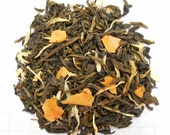 MANGO Green Tea, Organic Loose Leaf  Tea, Hand Blended, Sweet Tea, Iced Tea, Fruity Tea, Caffeinted , 1oz Earth Friendly Package