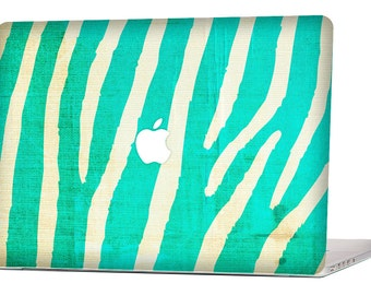 MINT ZEBRA MacBook Decal Macbook Stickers Macbook Skin Macbook Case Macbook Pro Cover Laptop Stickers Laptop Skin Laptop Decal Case