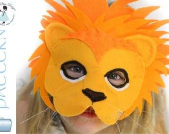 Lion Mask PATTERN.  Kids Lion Costume Sewing Pattern.