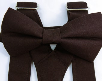 Plum Suspenders and Plum Bow Tie. Bridal Color Plum. Sizes Infant-Adult. Groomsmen Suspenders. Free Shipping Offer. Custom Fit Available.