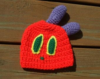 Caterpillar Costume, Halloween Hat, Photo Props, Girl Crochet Hat, Baby Boy Hat, Newborn Costume, Toddler Halloween, Crochet Item, Baby Item